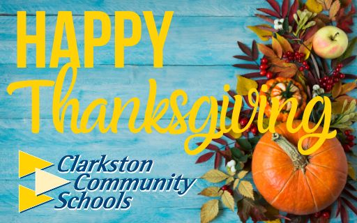 From Superintendent Ryan: Happy Thanksgiving!